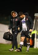 26 October 2018; Patrick Hoban of Dundalk with physiotherapist Danny Miller after the SSE Airtricity League Premier Division match between Bohemians and Dundalk at Dalymount Park in Dublin. Photo by Stephen McCarthy/Sportsfile