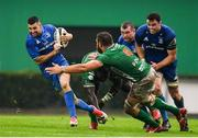 27 October 2018; Rob Kearney of Leinster is tackled by Derrick Appiah and Irné Herbst of Benetton during the Guinness PRO14 Round 7 match between Benetton and Leinster at Stadio Comunale Di Monigo in Treviso, Italy. Photo by Sam Barnes/Sportsfile