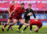 27 October 2018; Ruaridh Jackson of Glasgow Warriors is tackled by Rory Scannell of Munster during the Guinness PRO14 Round 7 match between Munster and Glasgow Warriors at Thomond Park, Limerick. Photo by Brendan Moran/Sportsfile