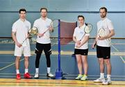 31 October 2018; AIG Insurance officially launched this year's AIG FZ Forza Irish Badminton International today, which will take place in the National Sports Campus from November 14th to 17th. Irish International badminton stars from left Joshua Magee, Paul Reynolds, Chloe Magee and Sam Magee were on hand today to launch this year's championship at Marino Institute of Education, Marino, Dublin. TG4 will televise the ladies and men's finals. Photo by Matt Browne/Sportsfile