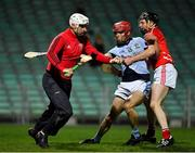 27 October 2018; Cathal McNamara of Doon in action against Peter Casey of Na Piarsaigh during the Limerick County Senior Club Hurling Championship Final match between Na Piarsaigh and Doon at the Gaelic Grounds, Limerick. Photo by Brendan Moran/Sportsfile