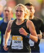 28 October 2018; Katy Nelson from Wales, on her way to finishing the 2018 SSE Airtricity Dublin Marathon. 20,000 runners took to the Fitzwilliam Square start line to participate in the 39th running of the SSE Airtricity Dublin Marathon, making it the fifth largest marathon in Europe. Photo by Eóin Noonan/Sportsfile