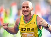 28 October 2018; Bosco Lyons from Tyrone, Ireland, on his way to finishing the 2018 SSE Airtricity Dublin Marathon. 20,000 runners took to the Fitzwilliam Square start line to participate in the 39th running of the SSE Airtricity Dublin Marathon, making it the fifth largest marathon in Europe. Photo by Eóin Noonan/Sportsfile