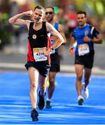 28 October 2018; Eoin Duffy from Cavan, Ireland, on his way to finishing the 2018 SSE Airtricity Dublin Marathon. 20,000 runners took to the Fitzwilliam Square start line to participate in the 39th running of the SSE Airtricity Dublin Marathon, making it the fifth largest marathon in Europe. Photo by Eóin Noonan/Sportsfile