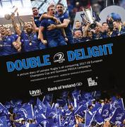 """The sight of Isa on the podium lifting the trophy with his teammates was the perfect image - the symbol of what all of us at Leinster have been working so hard to achieve."" Leinster Rugby Head Coach Leo Cullen reflects on his favourite image from a season like no other; an historic first ever Champions Cup and Guinness PRO14 double for the club. In Double Delight, the Sportsfile team of photographers, in conjunction with Marcus Ó Buachalla, retrace each game of a momentous 2017/18 season. This book is now available with all profits going to the two Leinster Rugby charity partners, MS Ireland and the Down Syndrome Centre."