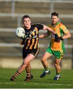 28 October 2018; Leo Donnellan of Mountbellew-Moylough in action against Micheál Lundy of Corofin during the Galway County Senior Club Football Championship Final match between Mountbellew-Moylough and Corofin at Pearse Stadium, Galway. Photo by Harry Murphy/Sportsfile