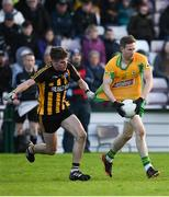 28 October 2018; Gary Sice of Corofin in action against Colin Murray of Mountbellew-Moylough during the Galway County Senior Club Football Championship Final match between Mountbellew-Moylough and Corofin at Pearse Stadium, Galway. Photo by Harry Murphy/Sportsfile