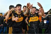 28 October 2018; Dr. Crokes players, Tony Brosnan, left, and Micheál Burns celebrate after the Kerry County Senior Club Football Championship Final match between Dr Crokes and Dingle at Austin Stack Park in Tralee, Kerry. Photo by Brendan Moran/Sportsfile