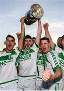 28 October 2018; Ballyhale Shamrocks players, from left, Brian Butler, Joey Cuddihy, Eoin Cody and TJ Reid celebrate following the Kilkenny County Senior Club Hurling Championship Final between Bennettsbridge and Ballyhale Shamrocks at Nowlan Park in Kilkenny. Photo by Stephen McCarthy/Sportsfile