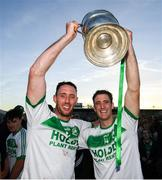 28 October 2018; Michael Fennelly, left, and Colin Fennelly of Ballyhale Shamrocks celebrate following the Kilkenny County Senior Club Hurling Championship Final between Bennettsbridge and Ballyhale Shamrocks at Nowlan Park in Kilkenny. Photo by Stephen McCarthy/Sportsfile