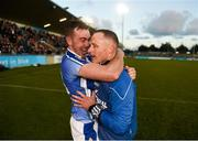 28 October 2018; Ballyboden St Enda's captain Simon Lambert and manager Joe Fortune celebrate after the Dublin County Senior Club Hurling Championship Final Replay match between Kilmacud Crokes and Ballyboden St Enda's, at Parnell Park, Dublin. Photo by Daire Brennan/Sportsfile