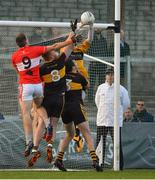 28 October 2018; Dr. Crokes goalkeeper Shane Murphy punches clear from Barry O'Sullivan of Dingle during the Kerry County Senior Club Football Championship Final match between Dr Crokes and Dingle at Austin Stack Park in Tralee, Kerry. Photo by Brendan Moran/Sportsfile