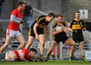 28 October 2018; Fionn Fitzgerald of Dr. Crokes takes possession in defence late in the game during the Kerry County Senior Club Football Championship Final match between Dr Crokes and Dingle at Austin Stack Park in Tralee, Kerry. Photo by Brendan Moran/Sportsfile