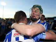 28 October 2018; James Madden, left, and Neil Ryan of Ballyboden St Enda's celebrate after the Dublin County Senior Club Hurling Championship Final Replay match between Kilmacud Crokes and Ballyboden St Enda's, at Parnell Park, Dublin. Photo by Daire Brennan/Sportsfile
