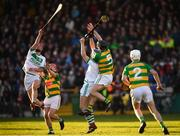 28 October 2018; Adrian Mullen, left, and TJ Reid of Ballyhale Shamrocks in action against Bennettsbridge players, from left, Darragh Wafer, Enda Morrissey, 5, and Conor Murphy during the Kilkenny County Senior Club Hurling Championship Final between Bennettsbridge and Ballyhale Shamrocks at Nowlan Park in Kilkenny. Photo by Stephen McCarthy/Sportsfile