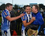 28 October 2018; Paul Doherty, left, Conal Keaney, and Gary Maguire, right, of Ballyboden St Enda's celebrate after the Dublin County Senior Club Hurling Championship Final Replay match between Kilmacud Crokes and Ballyboden St Enda's, at Parnell Park, Dublin. Photo by Daire Brennan/Sportsfile