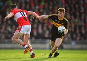 28 October 2018; Gavin White of Dr. Crokes in action against Mikey Geaney of Dingle during the Kerry County Senior Club Football Championship Final match between Dr Crokes and Dingle at Austin Stack Park in Tralee, Kerry. Photo by Brendan Moran/Sportsfile