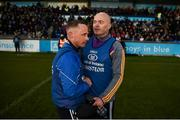 28 October 2018; Kilmacud Crokes manager Anthony Daly shakes hands with Ballyboden St Enda's manager Joe Fortune after the Dublin County Senior Club Hurling Championship Final Replay match between Kilmacud Crokes and Ballyboden St Enda's, at Parnell Park, Dublin. Photo by Daire Brennan/Sportsfile