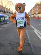 """28 October 2018; """"Bear"""" Fitzsimons during the 2018 SSE Airtricity Dublin Marathon. 20,000 runners took to the Fitzwilliam Square start line to participate in the 39th running of the SSE Airtricity Dublin Marathon, making it the fifth largest marathon in Europe. Photo by Ramsey Cardy/Sportsfile"""