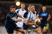 29 October 2018; Paul Mannion of Kilmacud Crokes in action against Ciarán Fitzpatrick of St Jude's during the Dublin County Senior Club Football Championship Final match between St Jude's and Kilmacud Crokes at Parnell Park in Dublin. Photo by Daire Brennan/Sportsfile