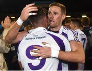 29 October 2018; Conor Casey, left, and Paul Mannion of Kilmacud Crokes celebrate after the Dublin County Senior Club Football Championship Final match between St Jude's and Kilmacud Crokes at Parnell Park in Dublin. Photo by Daire Brennan/Sportsfile