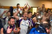 29 October 2018; Paul Mannion of Kilmacud Crokes celebrates in the dressing-room after the Dublin County Senior Club Football Championship Final match between St Jude's and Kilmacud Crokes at Parnell Park in Dublin. Photo by Daire Brennan/Sportsfile
