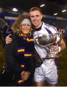 29 October 2018; Paul Mannion of Kilmacud Crokes celebrates with his mother Yvonne after the Dublin County Senior Club Football Championship Final match between St Jude's and Kilmacud Crokes at Parnell Park in Dublin. Photo by Daire Brennan/Sportsfile