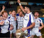 29 October 2018; Kilmacud Crokes joint captain Cian O'Sullivan celebrates with team-mates after the Dublin County Senior Club Football Championship Final match between St Jude's and Kilmacud Crokes at Parnell Park in Dublin. Photo by Daire Brennan/Sportsfile