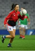 23 October 2018; Lauren Guilfoyle, broadcaster, during the Charity Croke Park Challenge 2018 Self Help Africa match between Cork and Mayo at Croke Park in Dublin. Photo by Piaras Ó Mídheach/Sportsfile