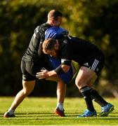 30 October 2018; Rory O'Loughlin, left, and Michael Bent during Leinster Rugby squad training at UCD in Dublin. Photo by Ramsey Cardy/Sportsfile