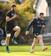 30 October 2018; Caelan Doris, left, and Peter Dooley during Leinster Rugby squad training at UCD in Dublin. Photo by Ramsey Cardy/Sportsfile