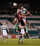 30 October 2018; Ryan Graydon of Bohemians in action against Sean Callan of Shamrock Rovers during the SSE Airtricity U19 League Final match between Shamrock Rovers and Bohemians at Tallaght Stadium in Dublin. Photo by Harry Murphy/Sportsfile