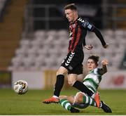30 October 2018; Danny Grant of Bohemians is tackled by Conor Gleeson of Shamrock Rovers during the SSE Airtricity U19 League Final match between Shamrock Rovers and Bohemians at Tallaght Stadium in Dublin. Photo by Harry Murphy/Sportsfile