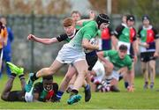 31 October 2018; Callun Fisher of South East Area is tackled by Cormac Egan of Midlands Area during the U16s 2nd Round Shane Horgan Cup match between South East Area v Midlands Area at IT Carlow in Carlow. Photo by Matt Browne/Sportsfile