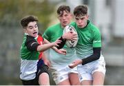 31 October 2018; Tadgh Walsh of South East Area is tackled by Daniel O'Connor of Midlands Area during the U16s 2nd Round Shane Horgan Cup match between South East Area v Midlands Area at IT Carlow in Carlow. Photo by Matt Browne/Sportsfile