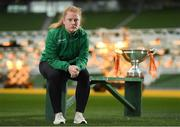 31 October 2018; Amber Barrett of Peamount United during a Continental Tyres FAI Women's Cup Final Media Day at the Aviva Stadium in Dublin. Photo by Eóin Noonan/Sportsfile