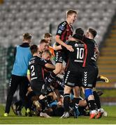 30 October 2018; Mitchell Byrne of Bohemians, centre, celebrates with teammates after the SSE Airtricity U19 League Final match between Shamrock Rovers and Bohemians at Tallaght Stadium, in Dublin. Photo by Harry Murphy/Sportsfile