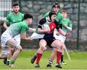 31 October 2018; Evan Harte of Midlands Area is tackled by Ben McGuinness of South East Area during the U18s 2nd Round Shane Horgan Cup match between South East Area and Midlands Area at IT Carlow in Carlow. Photo by Matt Browne/Sportsfile
