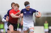 31 October 2018; Patrick Kiernan of Metropolitan Area in action against Dara Maher of North East Area during the U18s 2nd Round Shane Horgan Cup match between North East Area and Metropolitan Area at Ashbourne RFC in Ashbourne, Co Meath. Photo by Piaras Ó Mídheach/Sportsfile