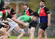 31 October 2018; Ben McGuinness of South East Area is tackled by Conor Gibney of Midlands Area during the U18s 2nd Round Shane Horgan Cup match between South East Area and Midlands Area at IT Carlow in Carlow. Photo by Matt Browne/Sportsfile