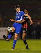 1 November 2018; Kian Corbally of St. Patrick's Athletic in action against Mayowa Animasehun of Bohemians during the SSE Airtricity U15 League Final match between Bohemians and St. Patrick's Athletic at Dalymount Park in Dublin. Photo by Harry Murphy/Sportsfile