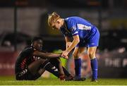 1 November 2018; William Chelaru of St. Patrick's Athletic consoles Samuel Ayoola of Bohemians following the SSE Airtricity U15 League Final match between Bohemians and St. Patrick's Athletic at Dalymount Park in Dublin. Photo by Harry Murphy/Sportsfile