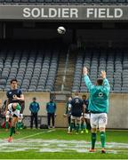 2 November 2018; Joey Carbery during the Ireland rugby captain's run at Soldier Field in Chicago, USA. Photo by Brendan Moran/Sportsfile