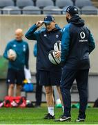 2 November 2018; Head coach Joe Schmidt with defence coach Andy Farrell, right, during the Ireland rugby captain's run at Soldier Field in Chicago, USA. Photo by Brendan Moran/Sportsfile