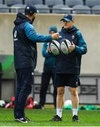 2 November 2018; Head coach Joe Schmidt with defence coach Andy Farrell, left, during the Ireland rugby captain's run at Soldier Field in Chicago, USA. Photo by Brendan Moran/Sportsfile