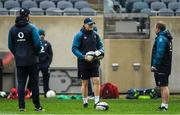 2 November 2018; Head coach Joe Schmidt with defence coach Andy Farrell, left, and kicking coach Richie Murphy during the Ireland rugby captain's run at Soldier Field in Chicago, USA. Photo by Brendan Moran/Sportsfile
