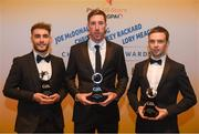 2 November 2018; London hurlers, from left, Aaron Sheehan, Brian Gregan and Denis O'Regan with their Christy Ring Champion 15 Awards during the PwC All-Stars 2018 awards at the Convention Centre in Dublin. Photo by Eóin Noonan/Sportsfile