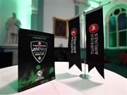 2 November 2018; A general view of branding prior to the Turkish Airlines 2018 Cricket Ireland Awards at the Royal College of Physicians in Dublin. Photo by Seb Daly/Sportsfile