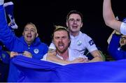 2 November 2018; Keith Cowan of Finn Harps celebrates with team-mates after the SSE Airtricity League Promotion / Relegation Play-off Final 2nd leg match between Limerick FC and Finn Harps at Market's Field in Limerick. Photo by Matt Browne/Sportsfile