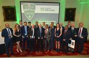 2 November 2018; Winning cricketers, volunteers and officials following the Turkish Airlines 2018 Cricket Ireland Awards at the Royal College of Physicians in Dublin. Photo by Seb Daly/Sportsfile